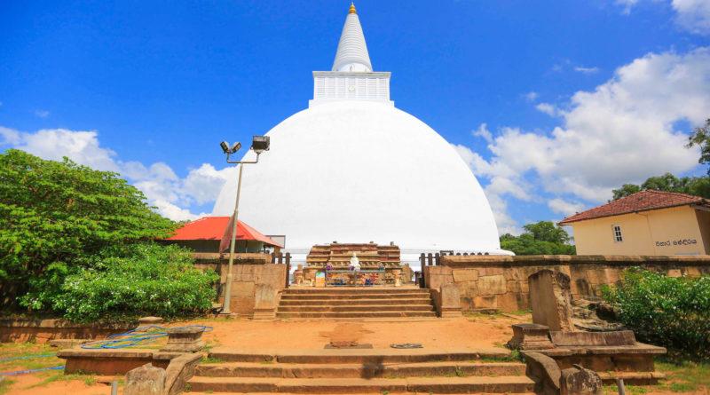 Mirisawetiya Stupa in Anuradhapura, Sri Lanka